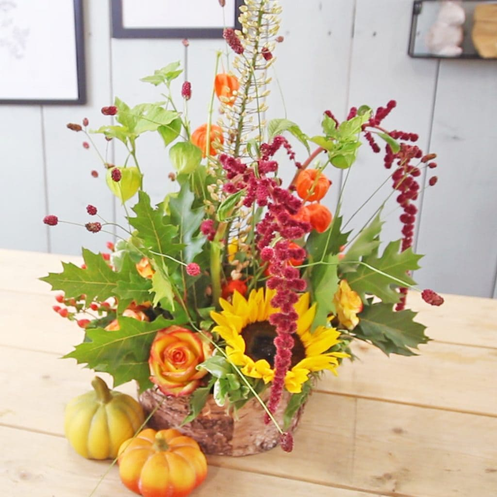 Colorful Fall Centerpiece Blog Video Holex Flower FI