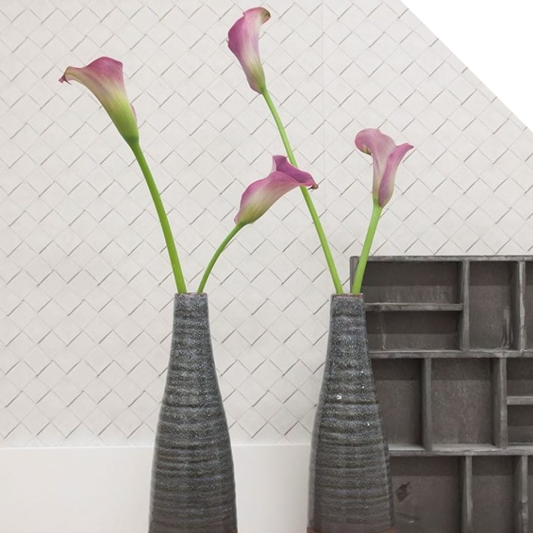 Purple Calla Lilly in grey vases