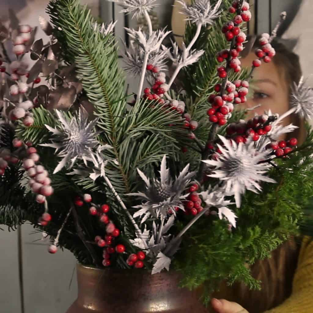 Christmas Bouquet Frosty Ilex