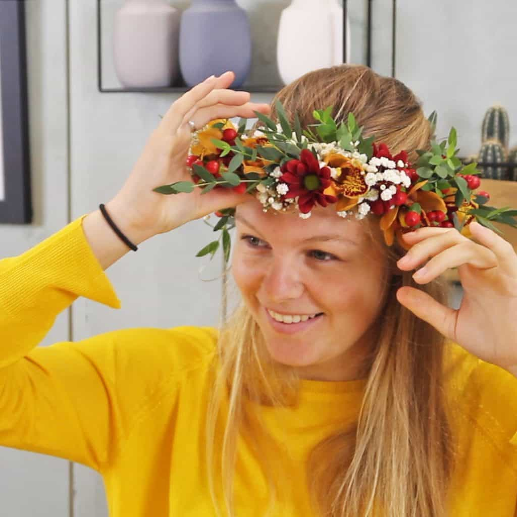 tutorial flower crown with cymbidium
