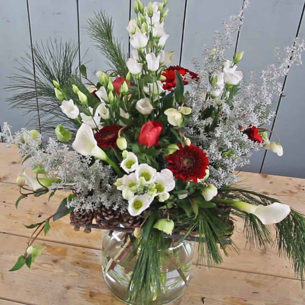Soft Romantic Christmas Centerpiece