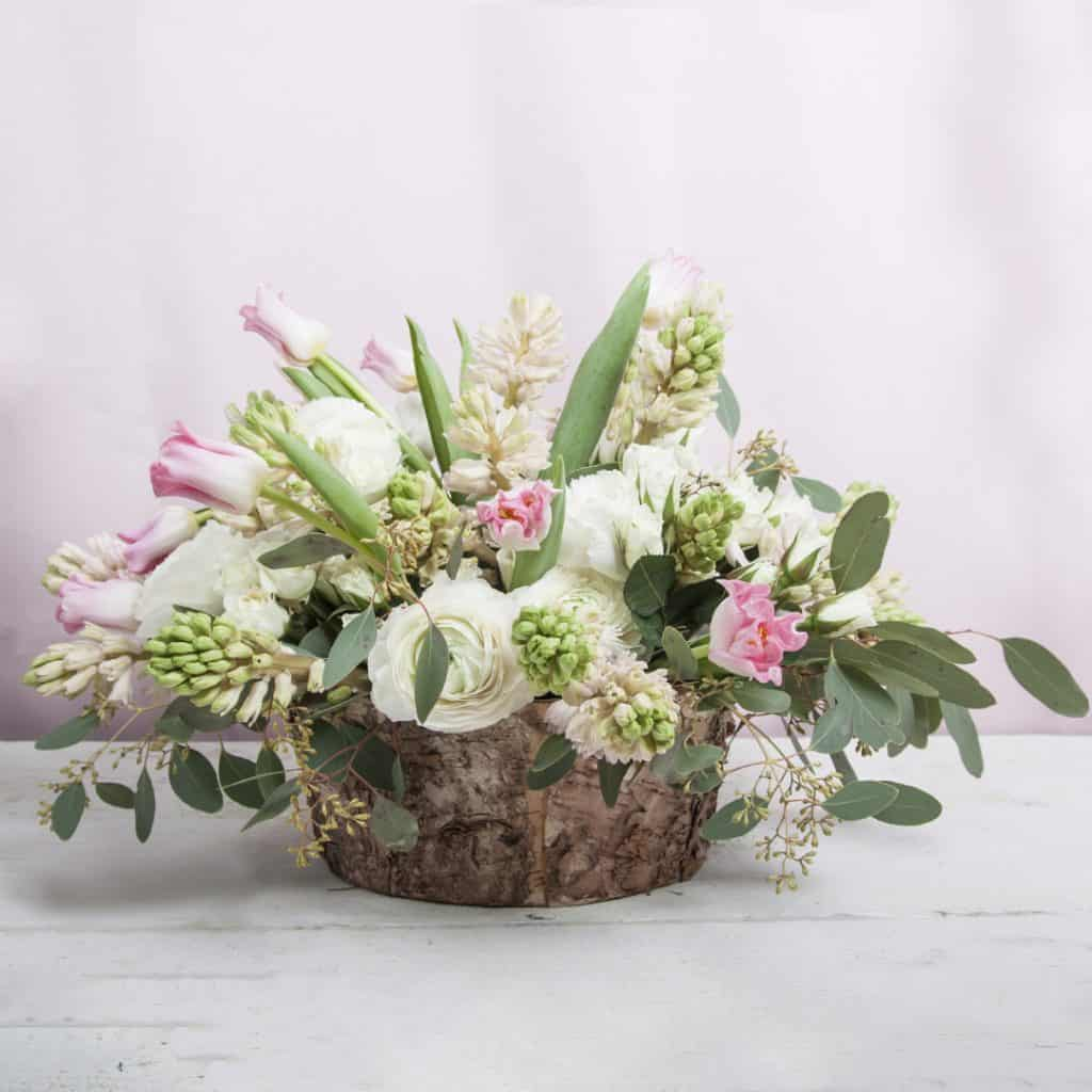 Rustic Centerpiece with Hyacinths