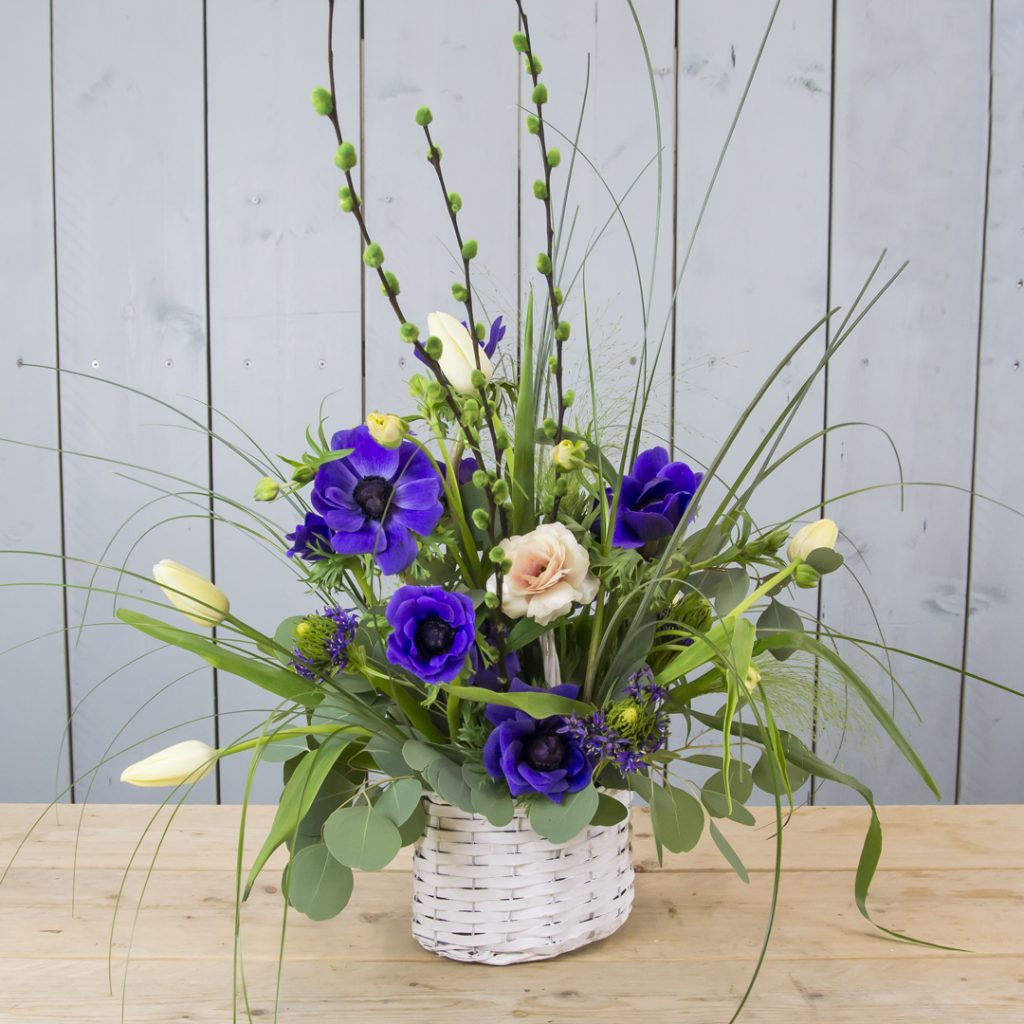 Lovely Spring Basket with Anemone | Holex Flower