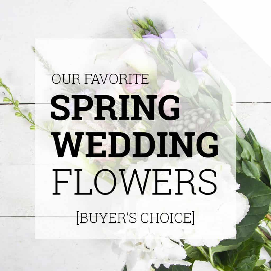 Our Favorite Spring Wedding Flowers