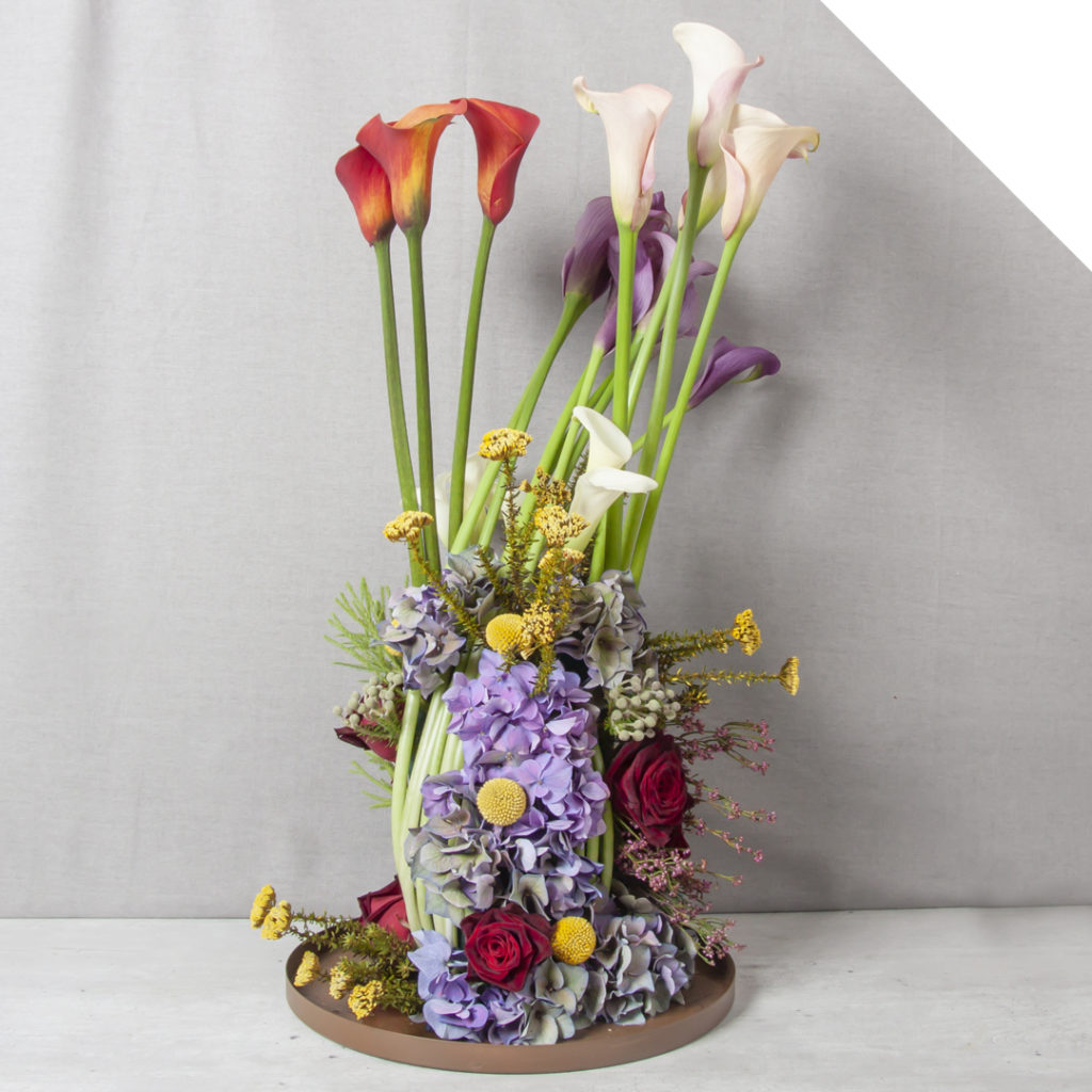 Modern Colorful Calla Centerpiece | Holex Flower