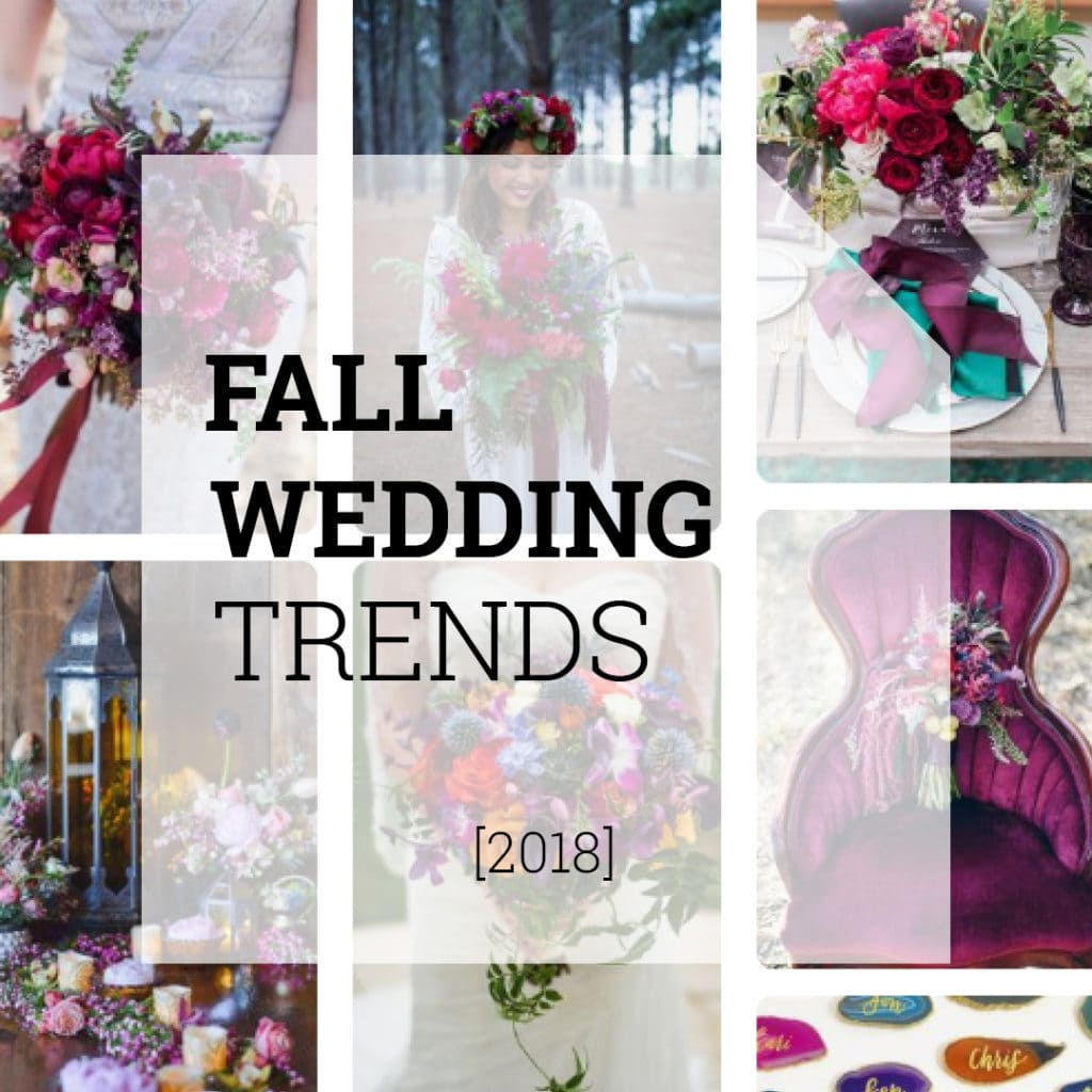 Fall Wedding Trends 2018 | Holex Flower