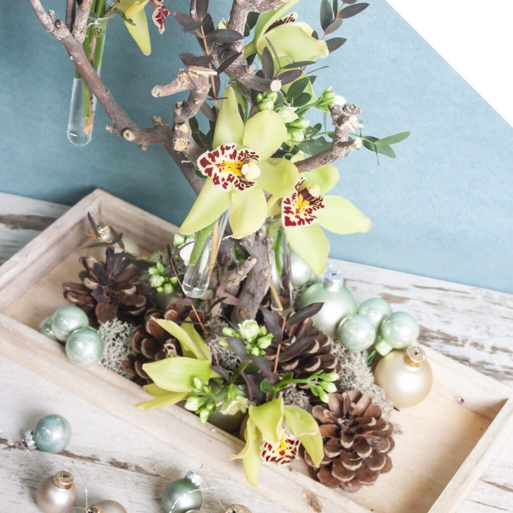Winter Table Piece with Cymbidium | Holex Flower