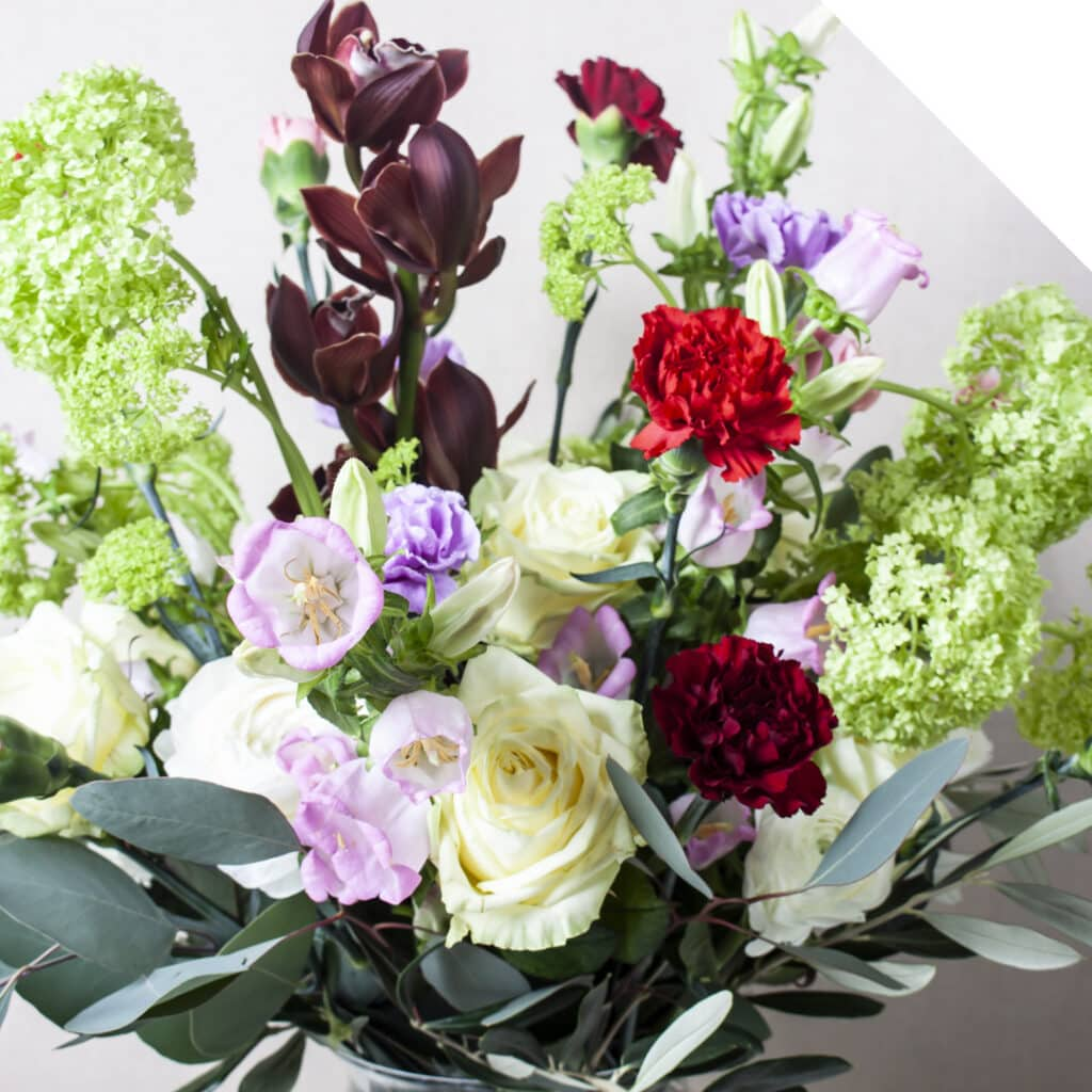 Bouquet with Valentine flowers and Carnations combined