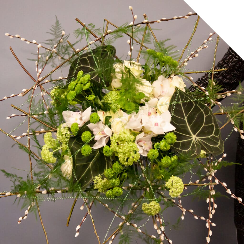 Flower Bouquet with Salix and Cymbidium