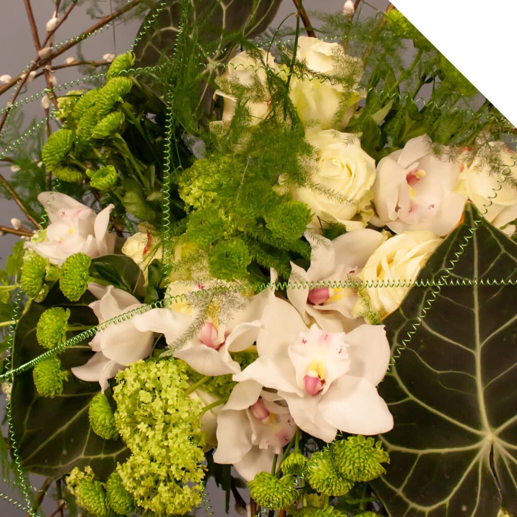 Flower bouquet with Salix