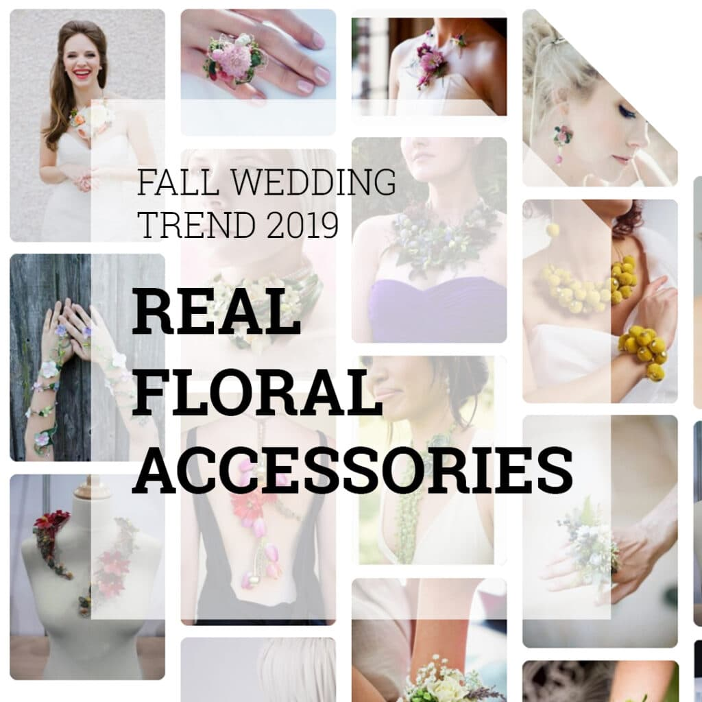 Fall Wedding Trend Real Floral Accessories | Holex Flower