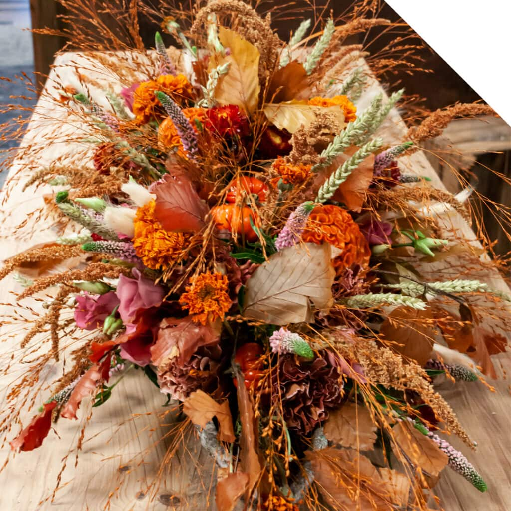 Fall Lobby Centerpiece with Dried Flowers | Holex Flower