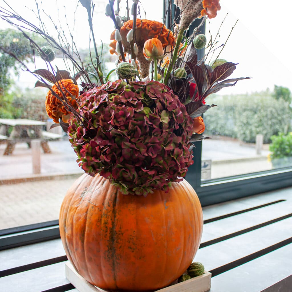 Pumpkin Vase Centerpiece | Holex Flower