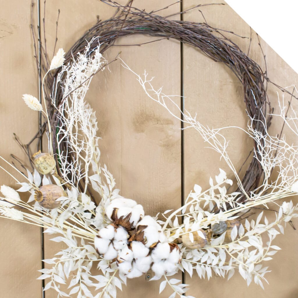 Winter Wreath with Dried Flowers